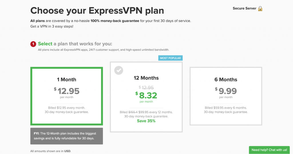 ExpressVPN Payment Plans