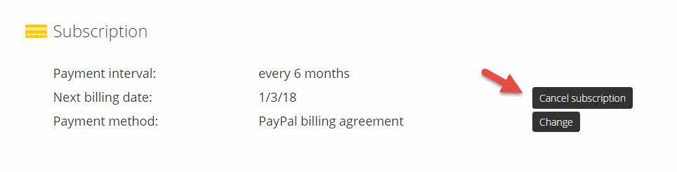 отмена регулярных платежей cyberghost pro
