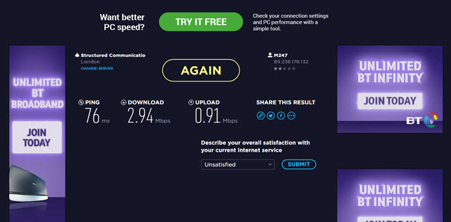 скорость cyberghost Pro