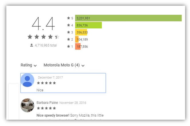 opera android rating
